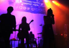 Chelsea Wolfe and her band perform/ Photo by Ian Grice